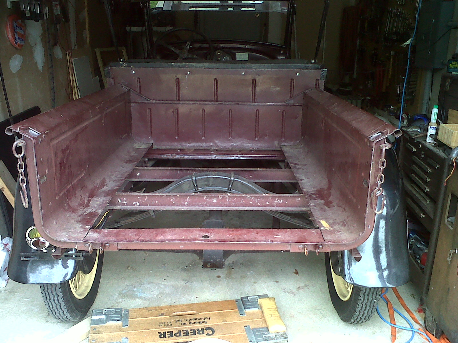 Tail gate removed